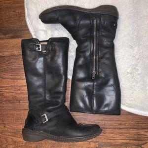 Ugg Australia Boots Sz 8 Leather Sheepskin F60013G